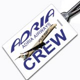 ADRIA AIRWAYS Crew Tag